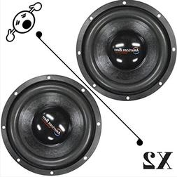 "2 NEW American Bass XD844 8"" 4 Ohm 1200W MAX Dual 600W RMS C"