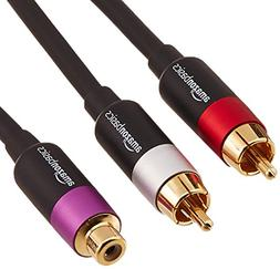 AmazonBasics 2-Male to 1-Female RCA Y-Adapter - 12-Inches