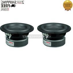 2PCS 4 Inch Woofer High Power Subwoofer Speaker Long Stroke