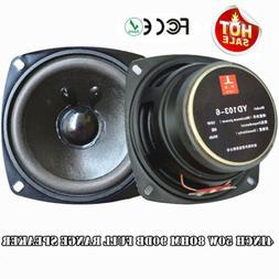2PCS 4inch 50w 8ohm 90DB Full Range Speaker Loudspeaker Subw