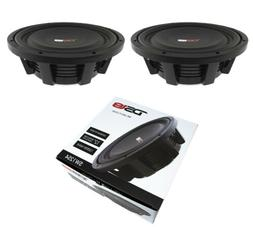 "2x 12"" Shallow Mount Subwoofers 2400W 4 Ohm Pro Audio Bass S"