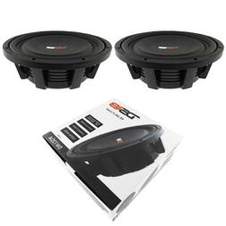 "2x 12"" Shallow Mount Subwoofers 2400W Dual 4 Ohm Pro Audio S"