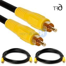 2x 6 FT Premium RCA Digital Coax Coaxial Audio Video Cable S