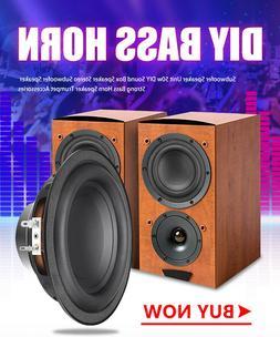 2X 6 Inch 50W 6Ω Bass DIY Horn Loudspeaker Stereo Subwoofer