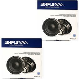 2X Alpine W10S4 10-inch Bassline Single 4 Ohm Subwoofer 750W