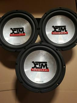 "3- MTX AUDIO 8"" SUBWOOFERS 100 RMS EACH .35OHM"