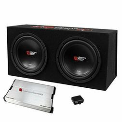 "3000W Cerwin Vega Amplified XED Dual 12"" Loaded Subwoofer Ba"