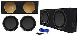 "MTX 3512-04S 12"" 1200w Shallow Car Subwoofers+Sealed Slim S"