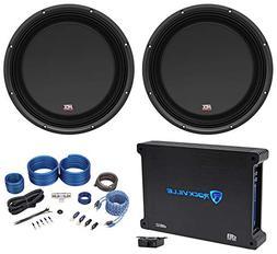 "MTX 3512-04S 12"" 1200 Watt Shallow Slim Subwoofers Subs+Amp"