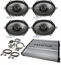 """4) Kicker 43CSC684 CS68 6x8"""" 450w Car Audio Speakers+4-Chann"""