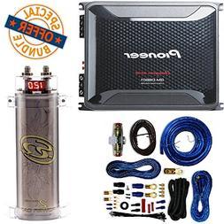 Pioneer 4 Gauge 1600W Monoblock Class-D Car Amplifier + SQCA