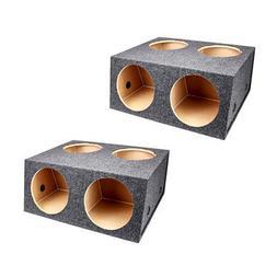 Q Power 4 Hole 12 Inch Sealed Divided Speaker Box Subwoofer