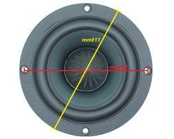 DOMIGO 4 inch 4Ω 40~80W Speaker Woofer Subwoofer Loudspeak