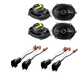 4 Kicker DSC684 6x8 400 Watt 2-Way 4-Ohm Car Audio Coaxial S