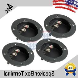 4 PC SUBWOOFER SPEAKER ROUND BOX TERMINAL SCREW CUP PLATE CO