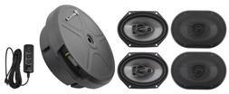 "Rockville RV68.3A 6x8"" Car Speakers+Powered Hidden Spare Ti"