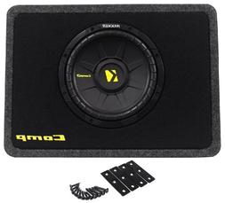 Kicker 40TCWS104 10-Inch 600W Thin Mount Loaded Subwoofer wi