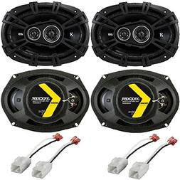 "Kicker 41DSC693 D-Series Coaxial 3-Way Speaker with 1/2"" Twe"