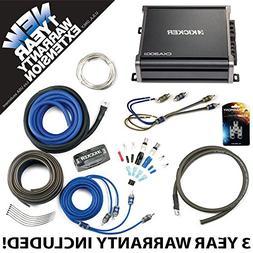 Kicker 43CXA3001 Car Audio Sub Amp CXA300.1 & 8 GA Amplifier