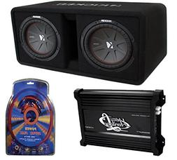 "Kicker 43DCWR102 10"" 2400W Dual Car Subwoofers + Box + 3000W"