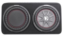 "Kicker 43TCWRT102 10"" Shallow Car Subwoofer In Slim Sub Box+"
