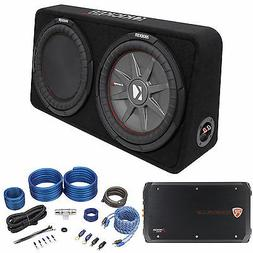"Kicker 43TCWRT124 COMPRT12 1000w 12"" Shallow Car Subwoofer+B"