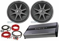 "Kicker 44CVX152 Comp VX CVX 15"" 2000 Watt Car Subwoofer+Mono"