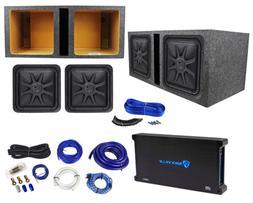 """Kicker 44L7S152 15"""" 4000 Watt Solobaric L7S Subwoofers+Amp+"""