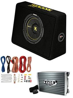 "Kicker 44TCWC102 10"" 600W Subwoofer Box+Boss AR1500M 1500W M"