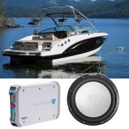 """KICKER 45KM104 10"""" 350w Marine Boat Subwoofer + Amplifier SV"""