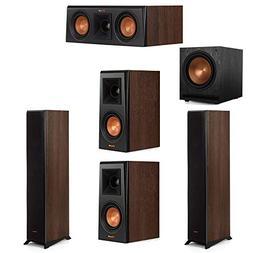 Klipsch 5.1 Walnut System 2 RP-4000F Floorstanding Speakers,