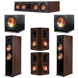Klipsch 5.2 Walnut System 2 RP-8000F Floorstanding Speakers,