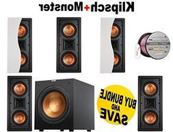 5 Klipsch R-5502-W II In-Wall LCR Speaker - Each  + Klipsch