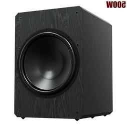 """500W 10"""" Active Powered Subwoofer Sealed Sub Bass Amplifier"""