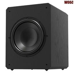"500W 12"" Powered Active Subwoofer Sealed Sub Bass Amplifier"
