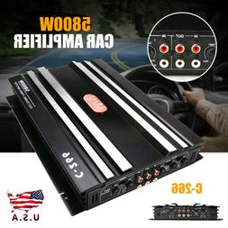 5800W Car 4 Channel Power Amplifier Stereo Audio Super Bass