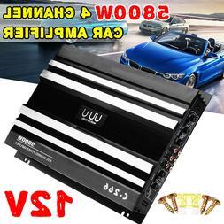 5800W Watt 4 Channel Car Amplifier Stereo Audio Bass Subwoof