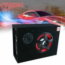 6'' 350W Under-Seat Car Active Subwoofer Speaker Stereo Bass