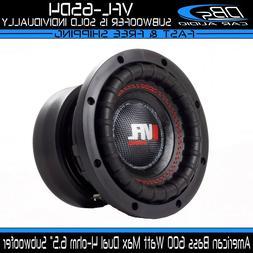 "American Bass 6.5"" Car Audio Subwoofer Speaker Dual 4-ohm 60"