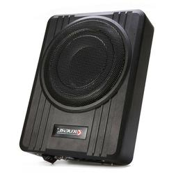 "10"" 600W Powered Car Under-Seat Subwoofer Amplifier Slim Aud"