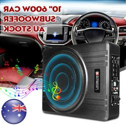 600W 10'' Under-Seat Active Car Subwoofer And Amp Speaker Au