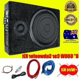 600W Car Subwoofer and Amp Active 8''Amplifier Kit Active Sl