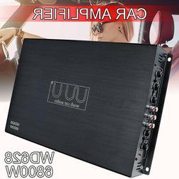 6800W 4CH Car Power Amplifier Class AB AMP Bridge Connection