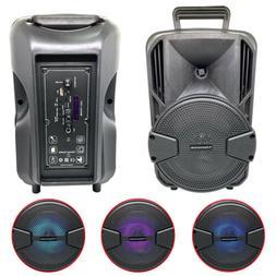8'' 1000W Wireless FM Bluetooth Speaker Subwoofer Heavy Bass