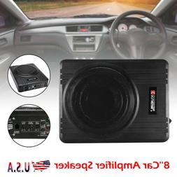 8'' Car Under-Seat Active Subwoofer Power Amplifier Bass HiF