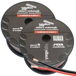 8 Gauge Speaker Wire/Cable  200ft Red/Black Car Audio Home S