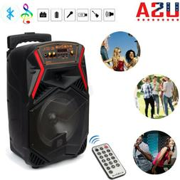 "8"" Party Bluetooth Subwoofer Speaker Portable for Karaoke w/"