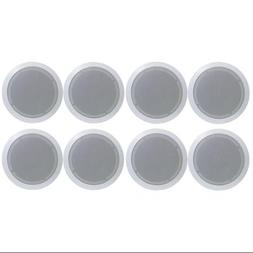 """8) PYLE PDIC81RD 8"""" 2000W Round Wall And Ceiling Home Audio"""