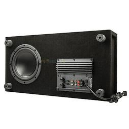 "8"" Powered Home Theater Subwoofer Low Profile Slim 100 Watts"