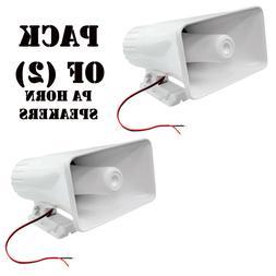 "Indoor/Outdoor PA Horn Speaker - 8"" Portable PA Speaker wi"